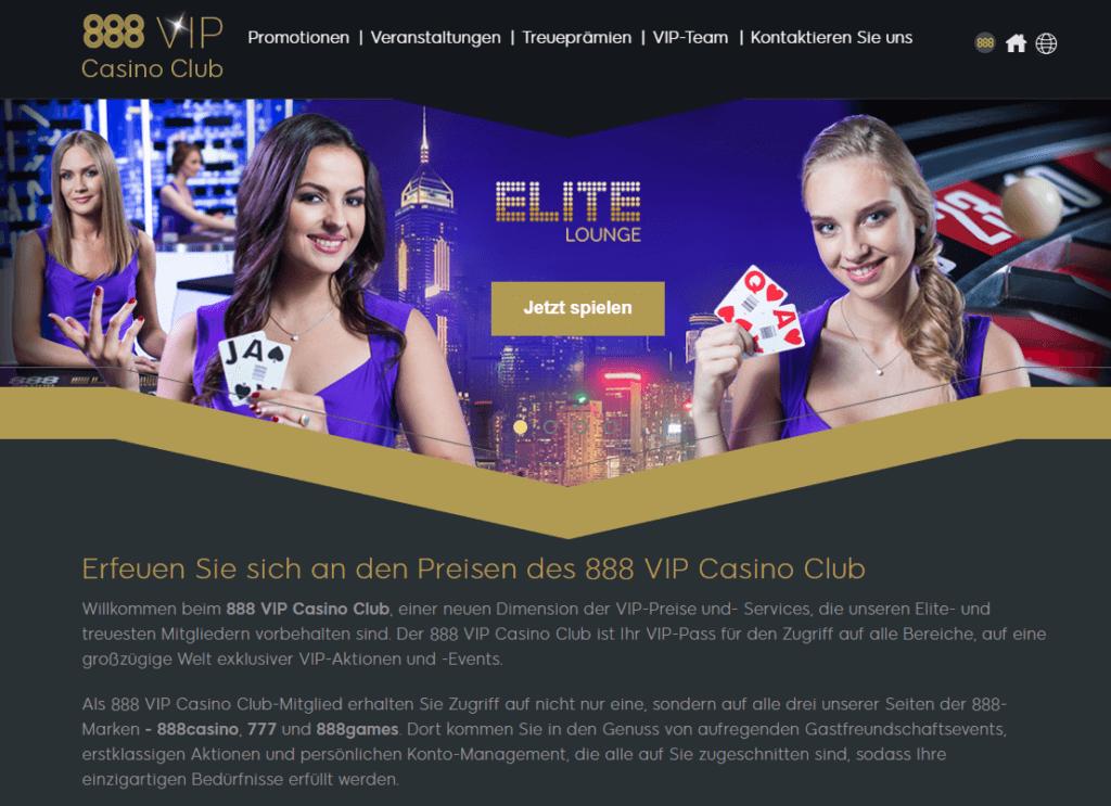888 Casino VIP Erfahrungen