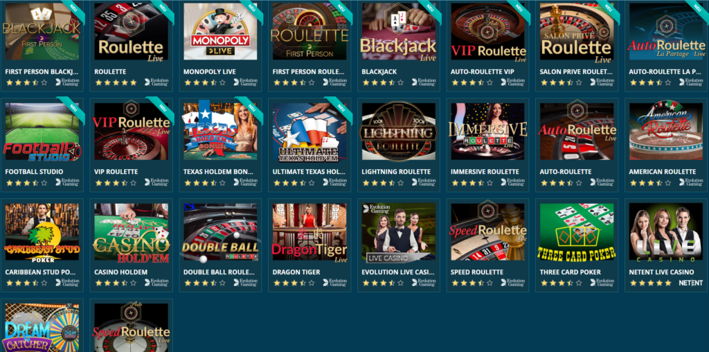 Platincasino Live Casino Erfahrungen