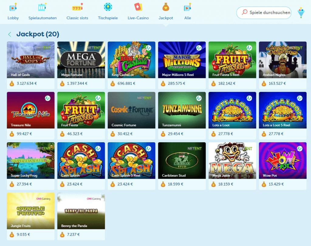 PlayFrank Erfahrungen Jackpot Spiele