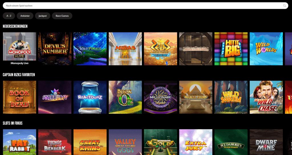 Rizk Casino Spielauswahl Erfahrungen