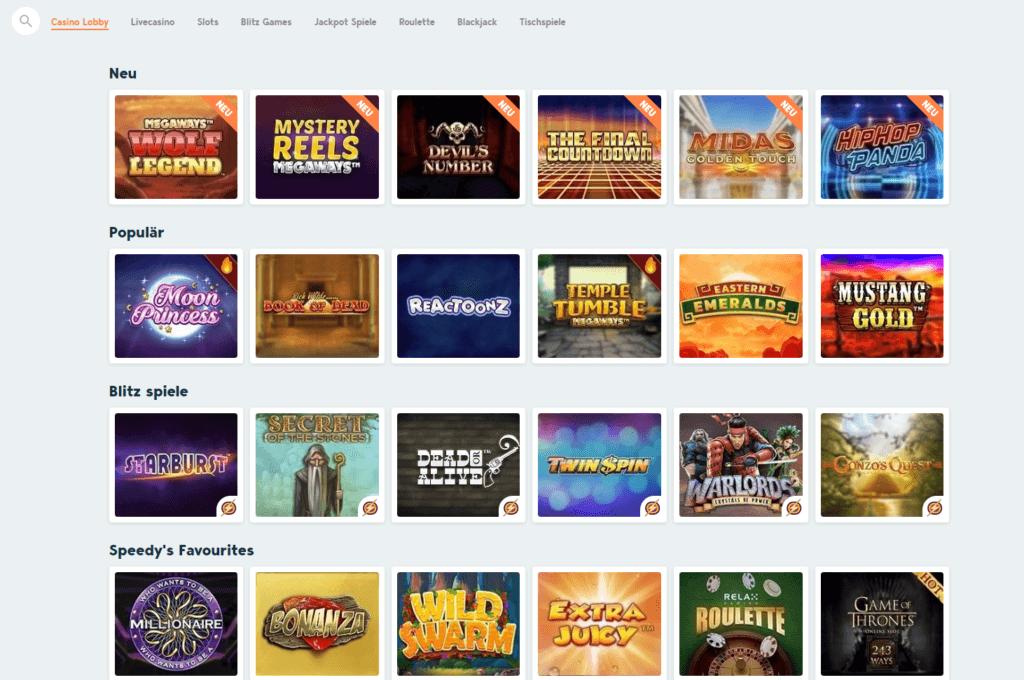 Speedy Casino Spielauswahl Erfahrungen