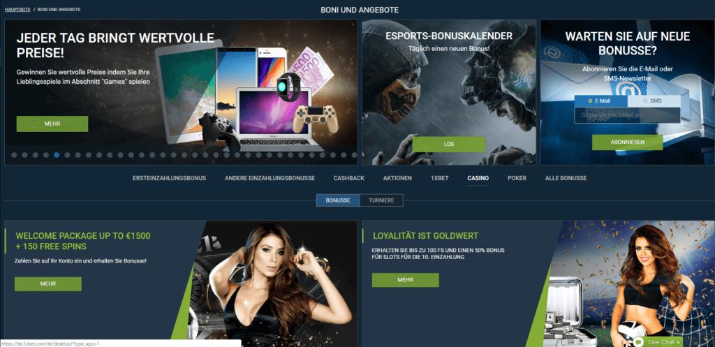 ᐅᐅ 1xBet Casino Erfahrungen ᐊᐊ ll 1 500€ + 150 Freispiele