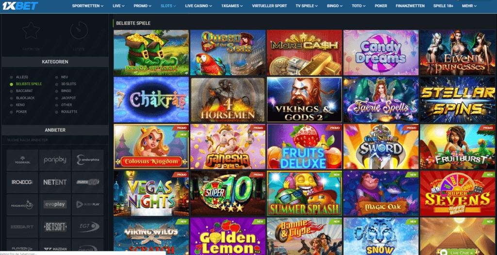 1xBet Casino Spielauswahl Erfahrungen