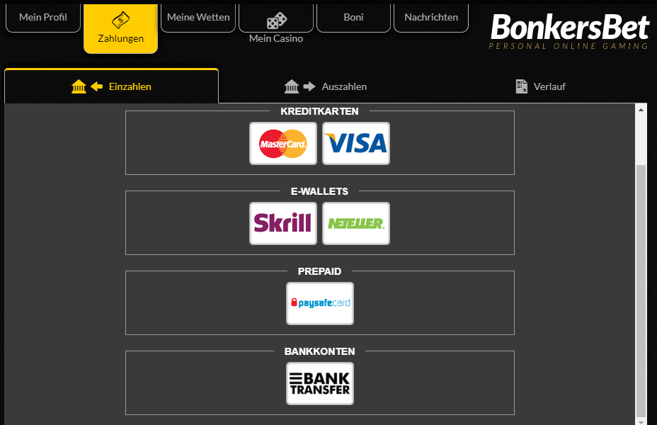 Bonkersbet Casino Zahlungen Erfahrungen