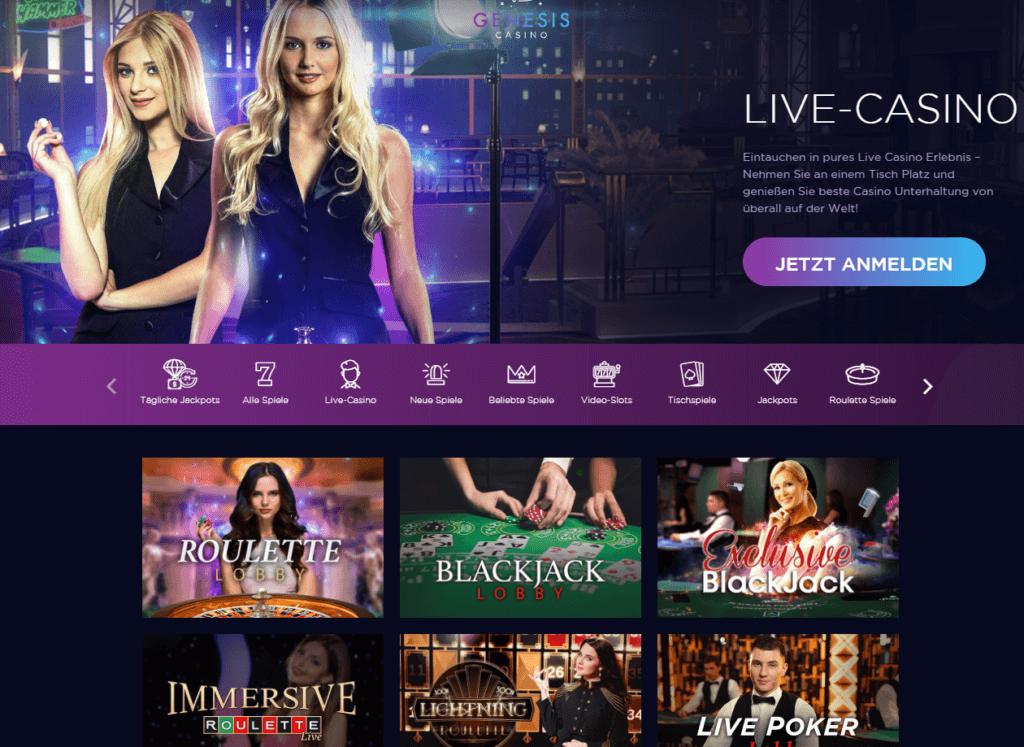 Genesis Live Casino Erfahrungen