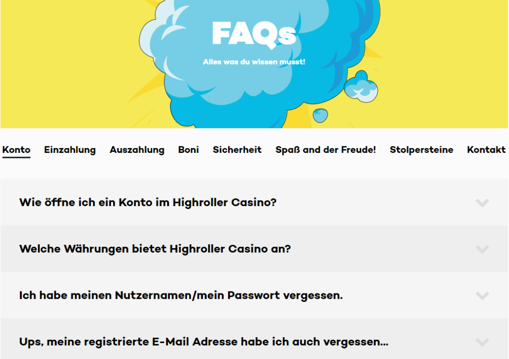 High Roller Casino Support Erfahrungen