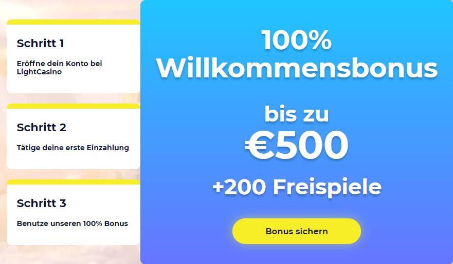 LightCasino 100% Bonus Erfahrungen
