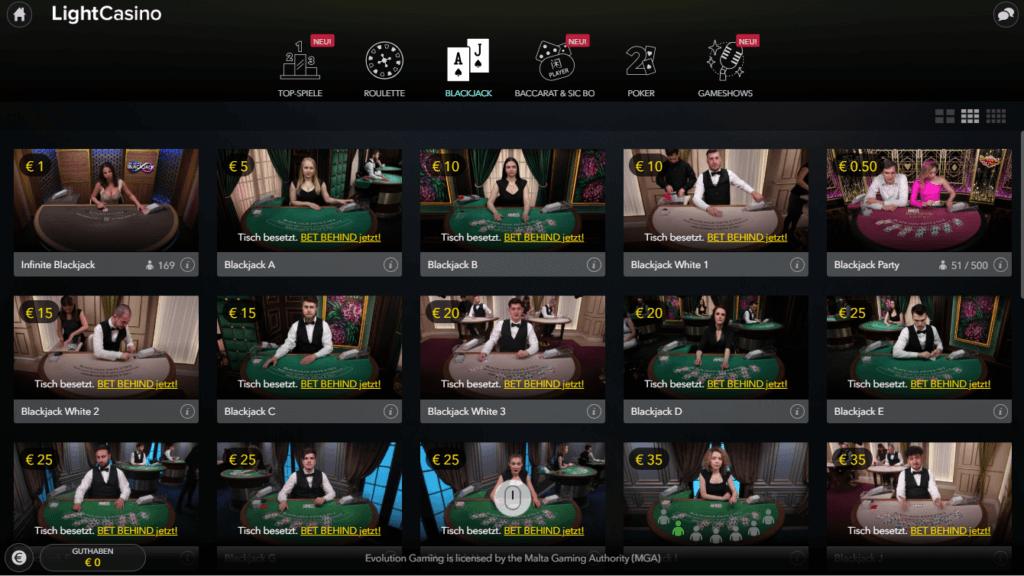LightCasino Live Casino Erfahrungen