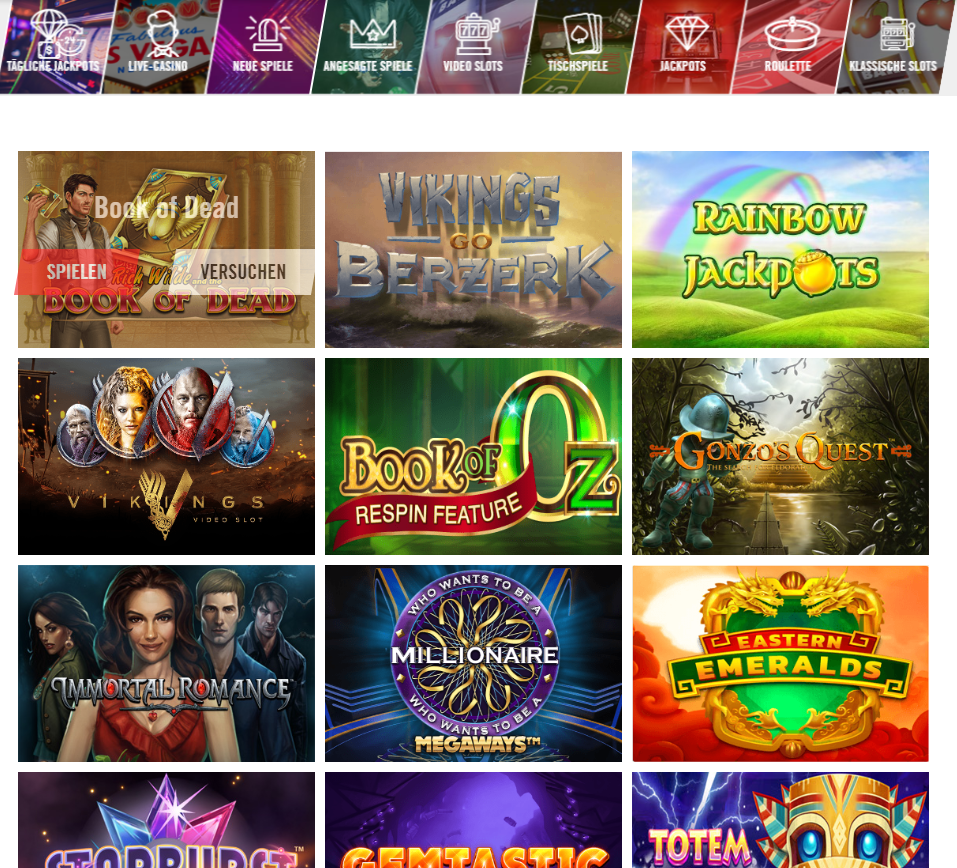 Vegas Hero Spielauswahl Erfahrungen