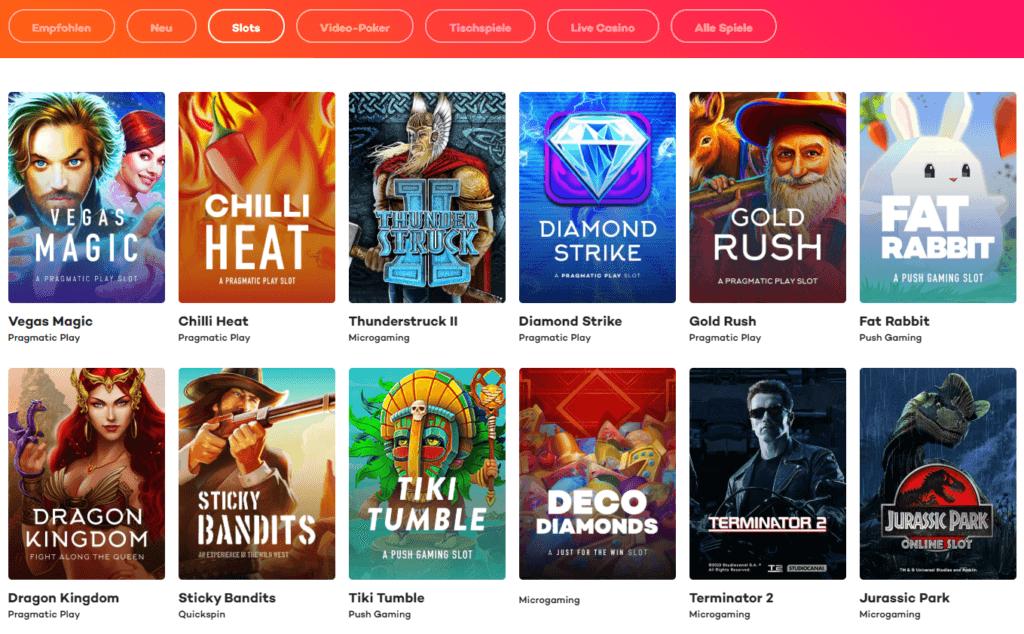 21.com Casino Spielauswahl Erfahrungen