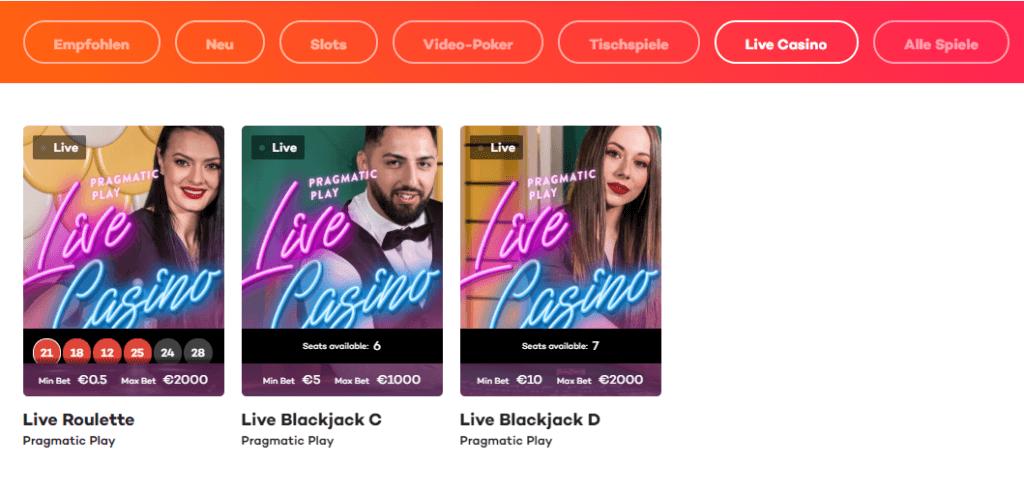 21.com Live Casino Erfahrungen