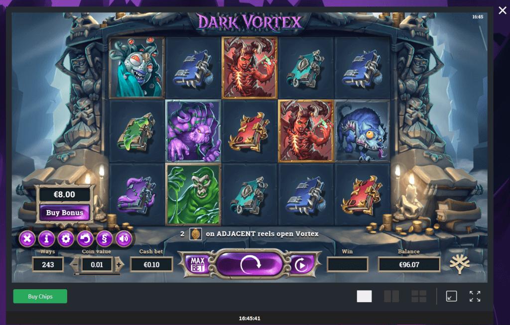 Dark Vortex Beginn 96 Euro