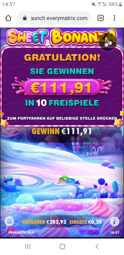 Sweet Bonanza Nach Runde 1 111€ Gewinn