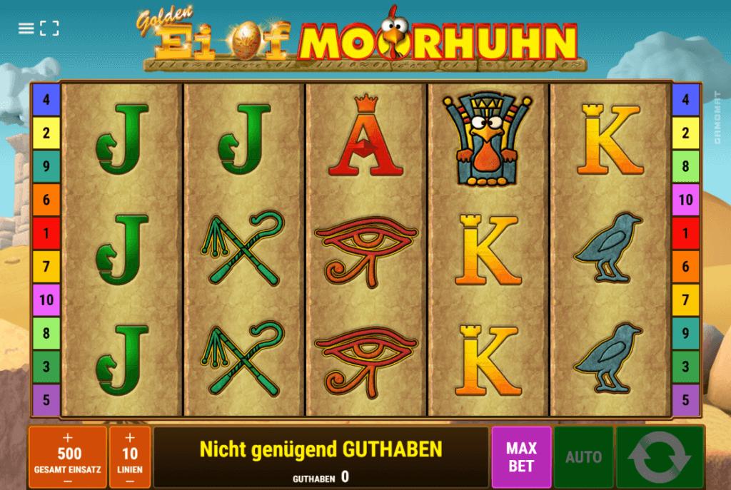 Golden Ei of Moorhuhn Slot